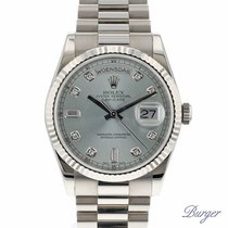 Rolex Day-Date White Gold with Ice-Blue Serti Dial