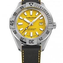 Louis Erard Ref. 69107AA08 Stahl Taucheruhr gelbes Blatt Date...