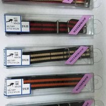 Hadley-Roma MILITARY STYLE/REGIMENTAL GP-BUCKLE WATCH BANDS...