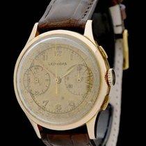 Leonidas Chronograph 35mm Handaufzug gebraucht Champagnerfarben