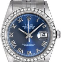 Rolex Men's Rolex Datejust Watch 16234 Blue Roman Diamond Dial