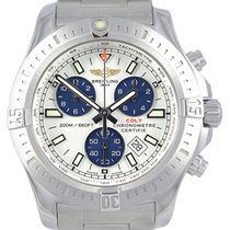 Breitling Colt Chronograph 44 Silver Dial Quartz Men Watch...