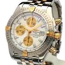 Breitling Chronomat Evolution Gold Steel MOP Diamonds 44 mm...