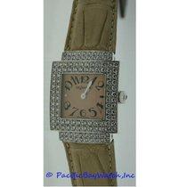 DeLaneau Bali Ladies White Gold Diamond Case Watch