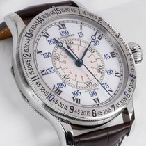 Longines Lindbergh Hour Angle new Automatic Watch with original box and original papers L2.678.4.11.0 Longines  HERITAGE Acciaio Bianco Pelle 47,5mm