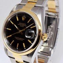 Rolex Date 18k Yellow Gold & Steel Mens Watch Oyster Bracelet...