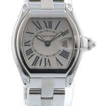 Cartier Roadster W62016V3 Watch with Stainless Steel Bracelet...