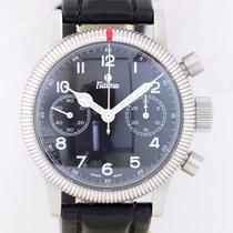 Tutima Flieger Chronograph 1941 Stahl Fliegeruhr Black 7760...