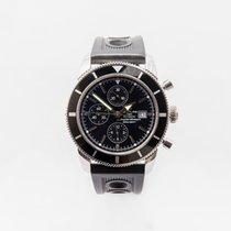 Breitling Superocean Héritage Chronograph Steel 46mm Black No numerals United Kingdom, Guildford,Surrey