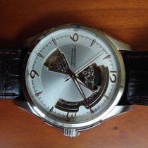Hamilton Jazzmaster Open Heart pre-owned 40mm Silver Leather