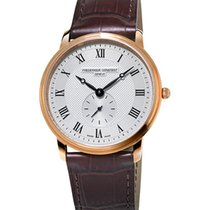 Frederique Constant Slimline Gents Gold/Steel 37mm Silver Roman numerals