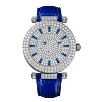 Franck Muller White gold 42mm Automatic 42 DM D2R CD Blue Croco new