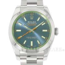 Rolex Milgauss Stahl 40mm Blau Keine Ziffern
