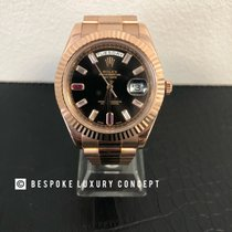 Rolex Day-Date II Rose gold 41mm Black Roman numerals