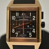 Jaeger-LeCoultre Reverso Squadra Chronograph GMT Ruzicasto zlato 41mm Crn Arapski brojevi