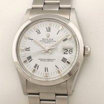Rolex Oyster Perpetual Date Stahl 34mm Weiß Römisch Deutschland, MÜNCHEN