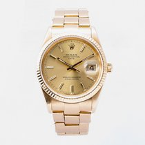 Rolex Oyster Perpetual Date Yellow gold 34mm Champagne No numerals United Kingdom, Guildford,Surrey