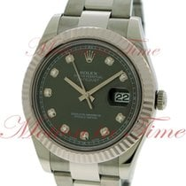Rolex Datejust II 41mm, Grey Rhodium Diamond Dial, White Gold...
