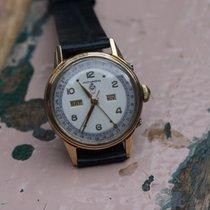 Movado vintage triple date rosé gold / steel FB case watch