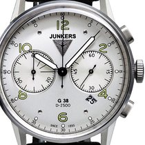 Junkers Steel Quartz Silver 42mm new G38