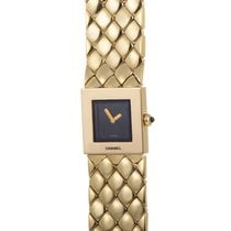 Chanel Yellow gold Quartz Black 15mm pre-owned