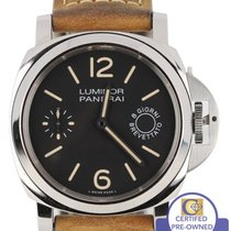 Panerai PAM 590 Q Luminor Marina 8 Days 44mm Steel Watch PAM00590