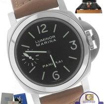 Panerai PAM 111 Luminor Marina Manual Wind Black Brown 44mm Watch