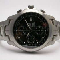 TAG Heuer Link Chronograph Stainless Steel Automatic Mens...