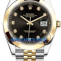 Rolex Datejust Or/Acier 41mm Noir