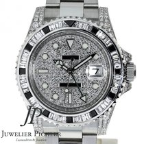 Rolex GMT-Master II Afterset Besatz, Box & Papiere
