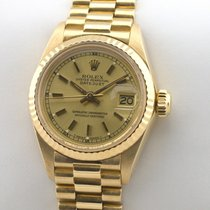 Rolex Lady Datejust 18K Gold Gelbgold Automatic Damenuhr Service