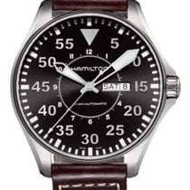 Hamilton Khaki Pilot Steel 46mm Black