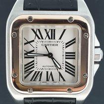 Cartier Santos 100 Acél 33mm Fehér Római