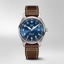 IWC Pilot Mark Steel 40mm Blue Arabic numerals United States of America, Iowa, Des Moines