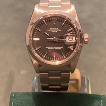 Rolex Oyster Perpetual Date Stål 34mm Silver Inga siffror