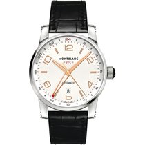 Montblanc Steel 42mm Automatic Timewalker new