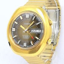 Fossil Goud/Staal 40mm Automatisch New Old Stock 70s Mens Silvana Alarm Day Date automatic Cal nieuw