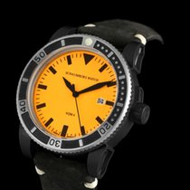 Lindburgh + Benson Steel 45mm Automatic Orange new