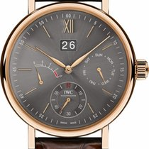 IWC Portofino Hand-Wound Day & Date Slate Index Red Gold