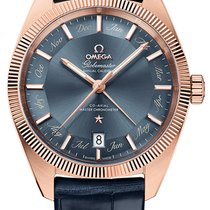 Omega Rose gold Automatic Blue 41mm new Globemaster