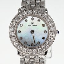 Waltham Blooming · Croche 23mm CA100W Diamond K18 Mother of Pearl