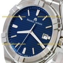 Maurice Lacroix AIKON AI1008-SS002-431-1 AIKON QUARTZ STEEL BRACELET BLUE DIAL new