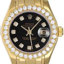 Rolex Ladies Masterpiece/Pearlmaster Black Diamond Watch 80298