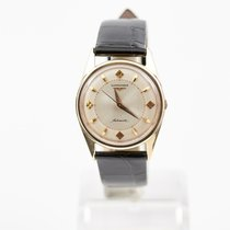 Longines Vintage Automatic 14KT Original Satin Dial with...