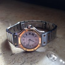 Cartier Santos Octagon Automatic Stahl/Gold Lady