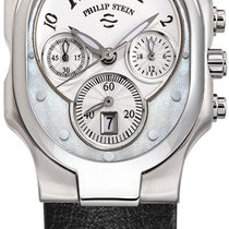 Philip Stein Chronograph 43.5mm Quartz 2010 new Signature Mother of pearl