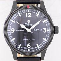 Tutima Grand Classic Black PVD Stahl Fliegeruhr Automatic B+P...