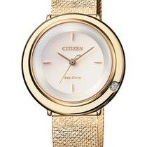 Citizen EM0643-84X CITIZEN L quarzo oro 1 diamante 31,5mm new