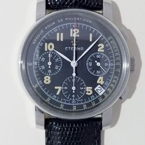 Eterna pre-owned Automatic 35mm Black Sapphire Glass