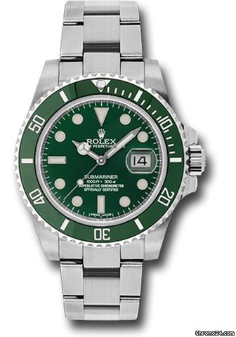 Rolex Submariner Date 40MM Stainless steel Green dial